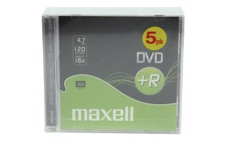 5 DVD+R DATA MAXELL