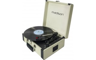 Madison Giradiscos RetroCase Crema
