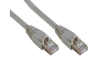 CABLE DE RED FTP, CONECTOR RJ45 BLINDADO, CAT 5E (100Mbps), 0.5m