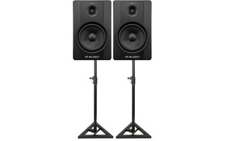 Pack : M-Audio BX8 D2 + Soportes