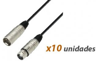 Pack : (10x) Cable Xlr 1m