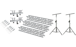 Pack: Stands TRA 36 x2 + SWU 400T + Conectores Truss BeamZ P30 x2 + BeamZ P30-L150 Truss