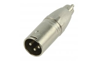 XLR Adapter XLR 3-Pin Male - RCA Male Silver