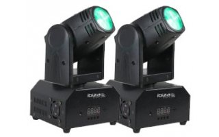 SET Moving Head Ibiza LMH 250 - 40W LED + Mando a control