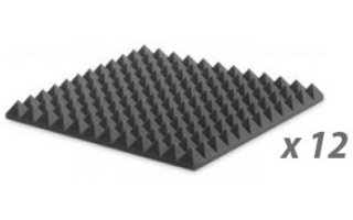 Pack: EZ FOAM PYRAMIDAL 5 CHARCOAL x12