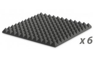 Pack: EZ FOAM PYRAMIDAL 5 CHARCOAL x6