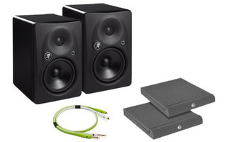 Pack: Mackie HR 624mk2 con bases aislantes y cables NEO+