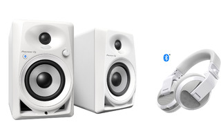 Pioneer DM 40 Bluetooth + Pioneer HDJ X5 BT White