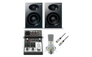 PodCast SET - Alesis Elevate 4 + Xenyx 302 USB + BCT MC 02 + XLR >> XLR 6 Metros