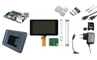 Raspberry Pi LCD starter kit + WiFi + Raspbian software