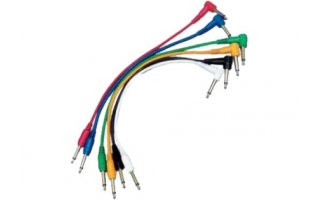 Yellow Cables ECOP060CD-6 - Juego de 6 cables patch 60 cm Jack Mono a Jack Mono acodado