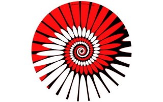 Slipmats Paint red Twin Pack