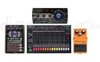 Roland TR-8 + Pioneer RMX 1000 + Boss DS-1