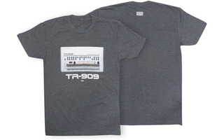 Roland TR909 Crew T-Shirt MD Charcoal
