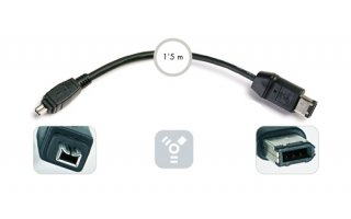 "Firewire 4 pin ""DV"" video digital- cable 1´5 m - Firewire 6 pin"