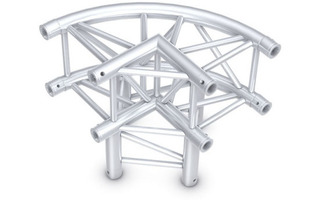 Showtec Truss Circle Corner 3-way 90° - Pro-30 Square F Truss