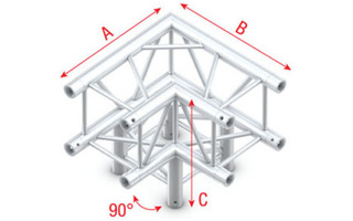 Showtec Truss Corner 3-way 90