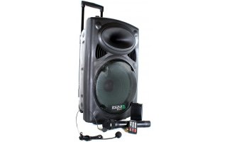 "Sistema portable 12"" - USB-MP3 & 2 x Microfonos VHF"