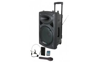 "Sistema portable 15"" - USB / MP3 / Bluetooth & 2 x Microfonos VHF"