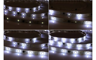 Tira LED multiefecto decorativa 5 metros , IP33 , SMD5050, 30 LED por metro 12V