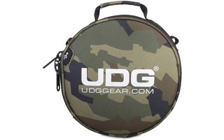 UDG Ultimate Digi HeadPhone Bag Camuflaje Negro , interior Naranja