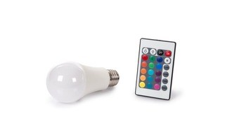 Bombilla LED - 10W - E27 - Color RGB & Blanco cálido - Mando a distancia