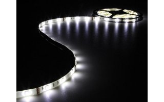 CINTA CON LEDs FLEXIBLE - COLOR BLANCO FRÍO - 150 LEDs - 5m - 12V
