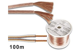 CABLE ALTAVOZ PROFESIONAL 2x1.50mm COLOR TRANSPARENTE