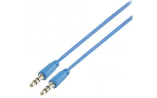 Cable azul de audio estéreo 3.5mm de 1.00 m