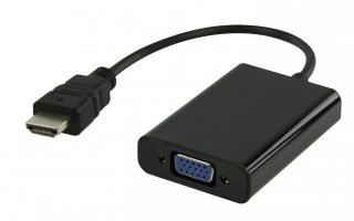 Cable HDMI™ adaptador HDMI - VGA + 3.5 mm 0.20 m en color negro