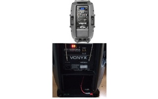 "Imagenes de Vonyx AP1200PA Bafle Portatil 12"" 2UHF MP3 BT"