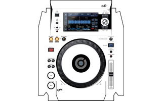 XDJ 1000 MK2 Skin WHITE aka STAR TROOPER