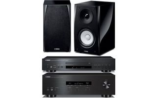 Yamaha R-S202D + CD-S300 + NS-BP182 Negro