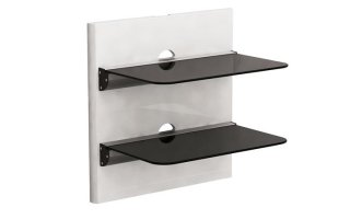 Soporte de pared con 2 estantes - protectores de cable