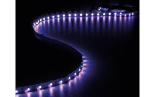 JUEGO CON CINTA DE LEDs FLEXIBLE Y ADAPTADOR DE RED - ULTRAVIOLETA - 300 LEDs - 5 m - 12 VDC-  S