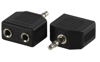 Adaptador de Audio Estéreo 3.5 mm Macho - 2x 3.5 mm Hembra Negro - Valueline AC-012
