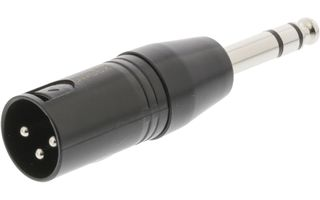 Adaptador XLR XLR 3-pin Macho - 6.35 mm Macho Negro - Sweex SWOP15943B