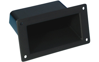 Adam Hall Hardware 3401 - Asa empotrable de plastico negro