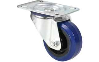 Adam Hall Hardware 372081 - Rueda giratoria 80mm azul