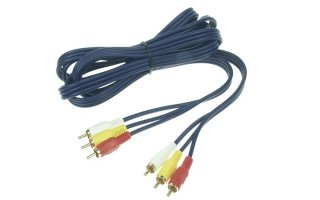 CABLE AUDIO/VÍDEO - 3 x RCA MACHO A 3 x RCA MACHO, 1.2m