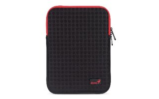 "GENIUS - FUNDA PARA iPAD O TABLET 9-10"" - COLOR NEGRO + ROJO 7"" -  GS-1021"