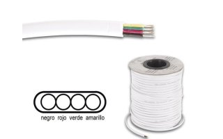 Cable telefónico 4 x 0.08mm blanco plano