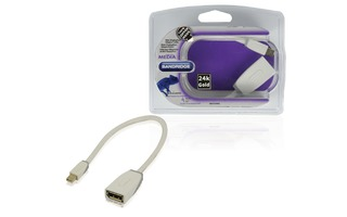 Cable adaptador Mini DisplayPort de 0.20 m - Bandridge BBM37450W02