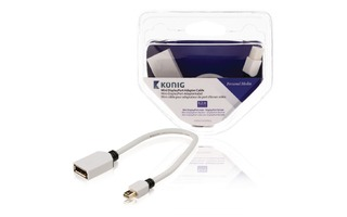 Cable adaptador Mini DisplayPort de mini DisplayPort macho a DisplayPort hembra de 0,20 m