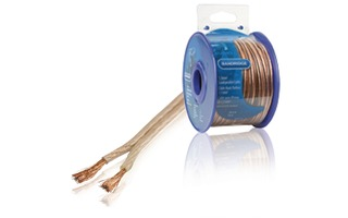 Cable de altavoz de 1,5 mm², 30,0 m transparente - Bandridge BRM1530
