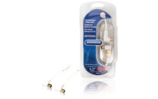 Cable de Antena Digital para Pantalla Plana 120dB 2.0 m - Bandridge BVL8402