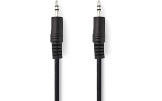 Cable de Audio Estéreo - Macho de 3,5 mm - Macho de 3,5 mm - 1,0 m - Negro - Nedis CAGP22000BK10