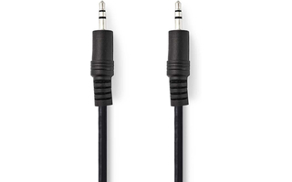 Cable de Audio Estéreo - Macho de 3,5 mm - Macho de 3,5 mm - 3,0 m - Negro - Nedis CAGP22000BK30