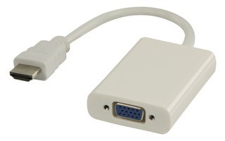 Cable HDMI™ adaptador HDMI - VGA + 3.5 mm 0.20 m en color blanco - Valueline VLMP34900W0.20