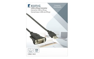 Conversor USB-serial de 1.80 m - König CABLE-146/2
